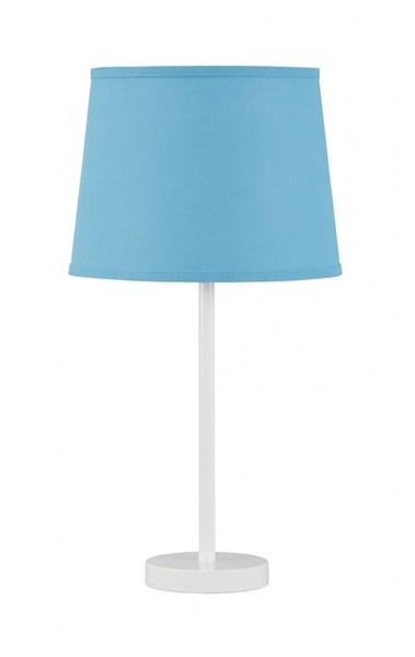 Shonie Contemporary Teal White Metal Table Lamp (1/CN) L857504