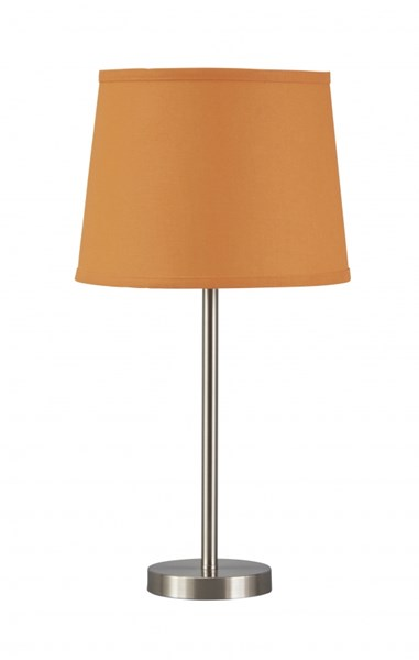 Shonie Contemporary Orange Silver Finish Metal Table Lamp (1/CN) L857534