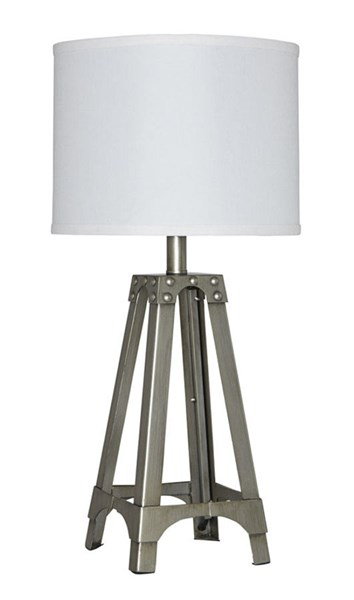 Arty Contemporary Silver Metal Table Lamp L857584