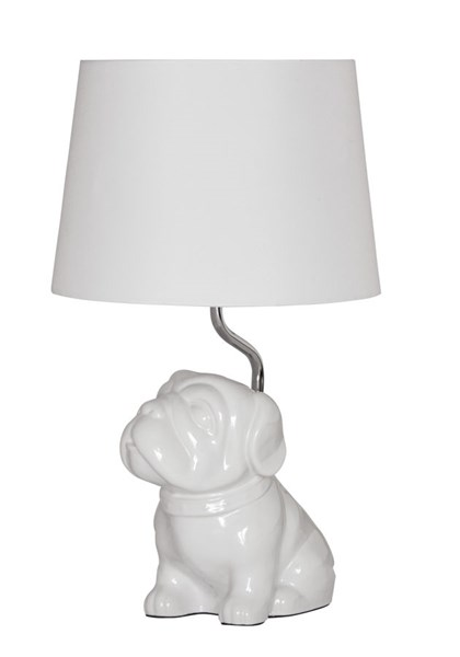 Avel Contemporary White Ceramic Table Lamp L857594