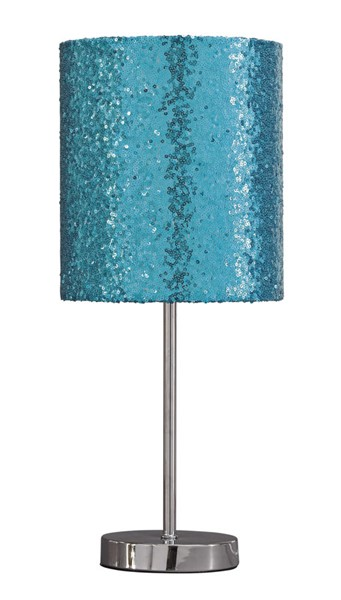Ashley Furniture Maddy Teal Silver Metal Table Lamp L857714