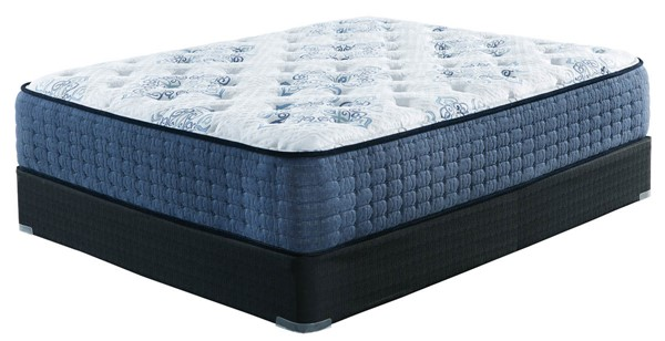 Ashley Furniture Mt Dana Firm White Black Queen Mattresses With Foundations M62131-M80X32-VAR