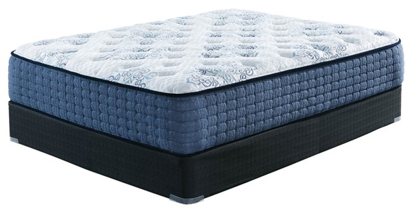 Ashley Furniture Mt Dana Plush White Black Queen Mattresses With Foundations M62231-M80X32-MT-FD-VAR