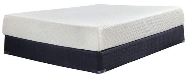 Ashley Furniture 10 Inch Chime Memory Foam Mattresses With Foundations M699X1-M80XX2