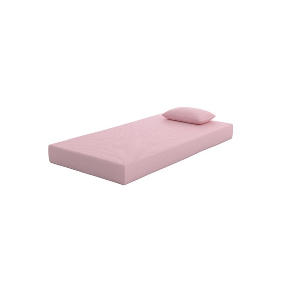 Ashley Furniture IKidz Pink 2pc Twin Mattress And Pillow M72211