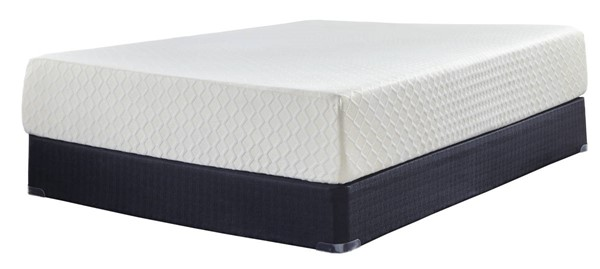 Ashley Furniture Chime 12 Inch Foam Mattresses with Foundation M727-M80X-MATT-FND-VAR