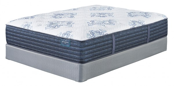 Mt. Dana Plush Traditional White Gray Mattresses W/Foundation M788-MATT-FND-VAR