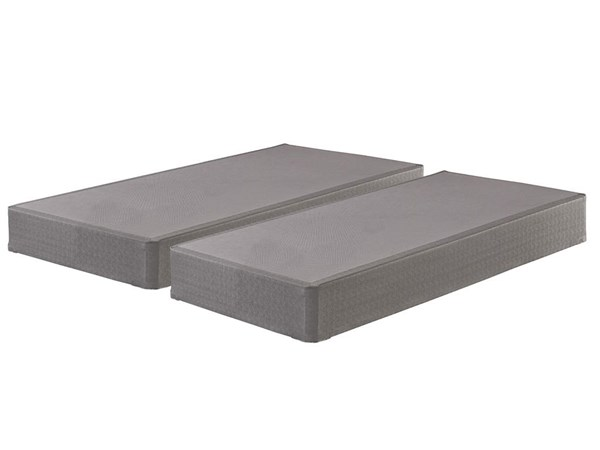 2 Traditional Gray Fabric Queen Foundations M81X62-SET