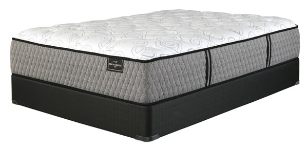 Ashley Furniture Mt Rogers Ltd Plush Mattresses with Foundation M8373-M80X3-MATT-FND-VAR