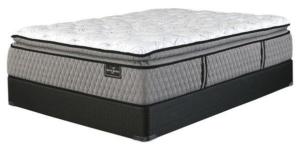Ashley Furniture Mt Rogers Ltd Pillowtop Mattresses with Foundation M8383-M80X3-MATT-FND-VAR