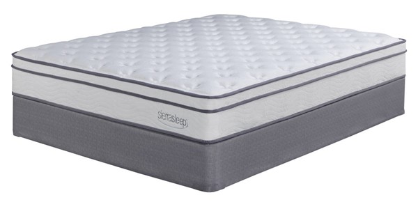 Longs Peak Ltd Traditional White Fabric King Mattress W/Foundation M90741-M81X42