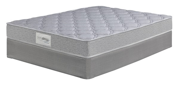 RAC Silver Ltd Traditional White Fabric Twin Mattress W/Foundation M95311-M81X12