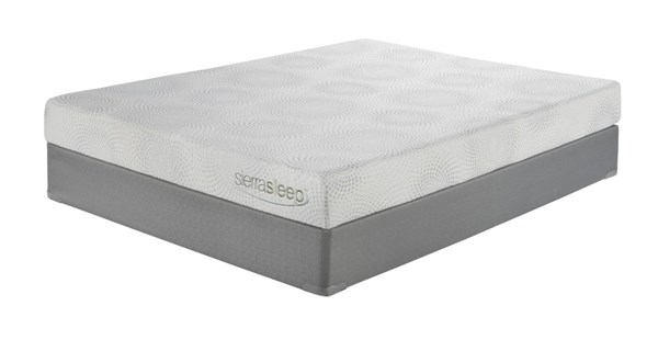 7 Inch Gel Memory Foam Traditional Classics White Cal King Mattress M97151