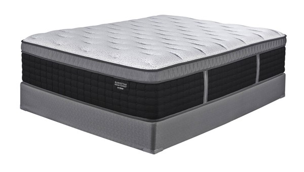 Traditional White Black Gray King Mattress W/Foundation M97741-42