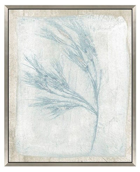 Barney Vintage Casual Blue Beige Rectangle Wall Art A8000138