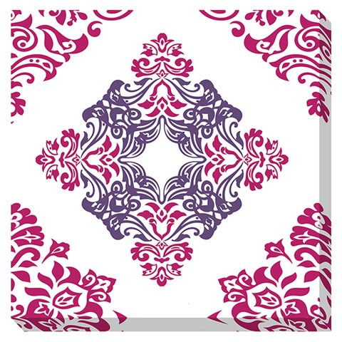 Jadine Contemporary White Pink Geometric Wall Art A8000160