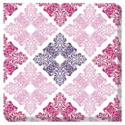 Jadine Contemporary White Pink Wall Art A8000161