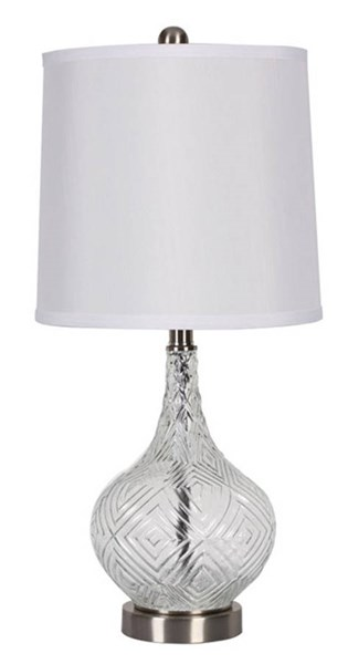 Stef Contemporary Clear Glass Table Lamp (2/CN) L431364