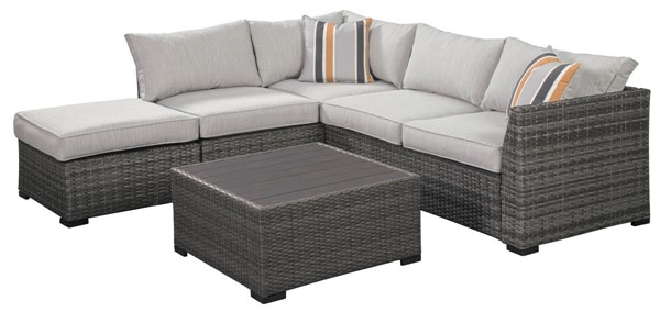 Ashley Furniture Cherry Point Gray 4pc Outdoor Sectional P301-070