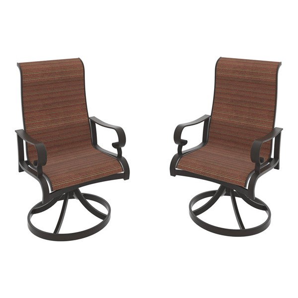 2 Ashley Furniture Apple Town Sling Swivel Chairs P316-602A