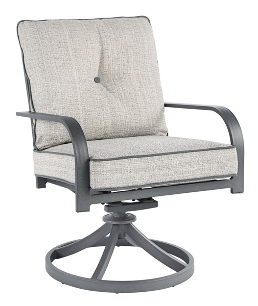 2 Ashley Furniture Donnalee Bay Dark Gray Swivel Lounge Chairs P325-601A