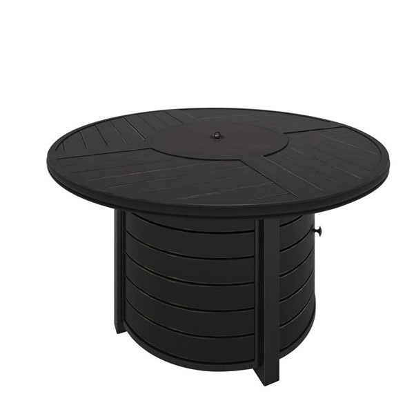 Ashley Furniture Castle Island Dark Brown Round Fire Pit Table P414-776