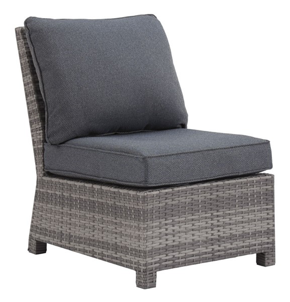 Ashley Furniture Salem Beach Gray Armless Chair With Cushion P440-846