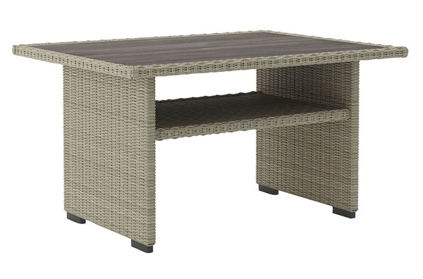 Ashley Furniture Silent Brook Beige Resin Wicker Multi Use Table P443-625