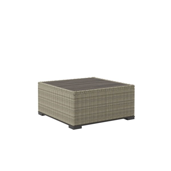 Ashley Furniture Silent Brook Beige Square Cocktail Table P443-708
