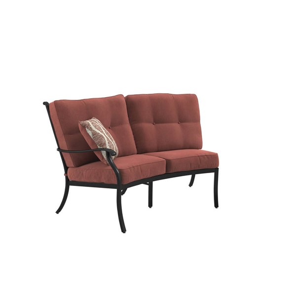 Ashley Furniture Burnella Brown Aluminum LAF Loveseat P456-855