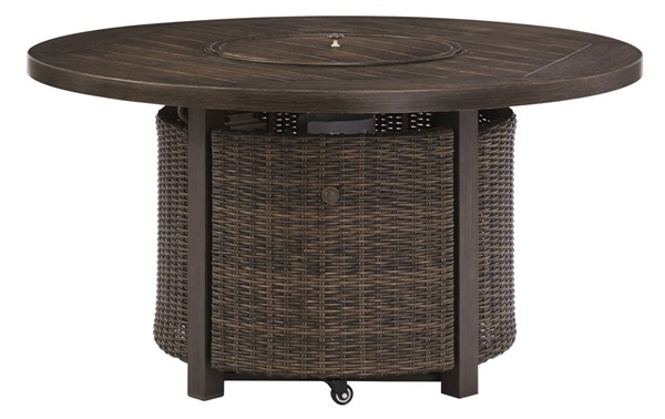 Ashley Furniture Paradise Trail Medium Brown Round Fire Pit Table P750-776