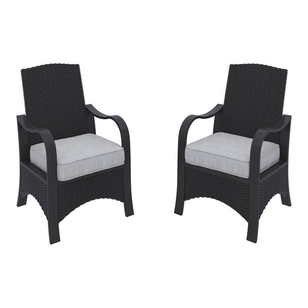 2 Ashley Furniture Marsh Creek Brown Dining Chairs With Cushion P775-601A