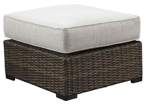 Ashley Furniture Alta Grande Beige Brown Ottoman With Cushion P782-814