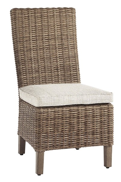 2 Ashley Furniture Beachcroft Beige Fabric Side Chairs With Cushion P791-601