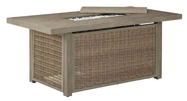 Ashley Furniture Beachcroft Beige Rectangular Fire Pit Table P791-773