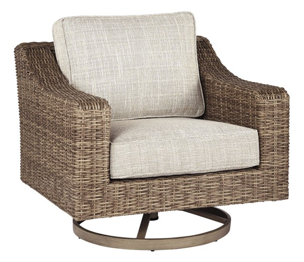Ashley Furniture Beachcroft Beige Swivel Lounge Chair P791-821