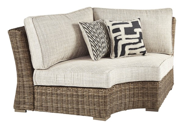 Ashley Furniture Beachcroft Beige Curved Corner Chair With Cushion P791-851