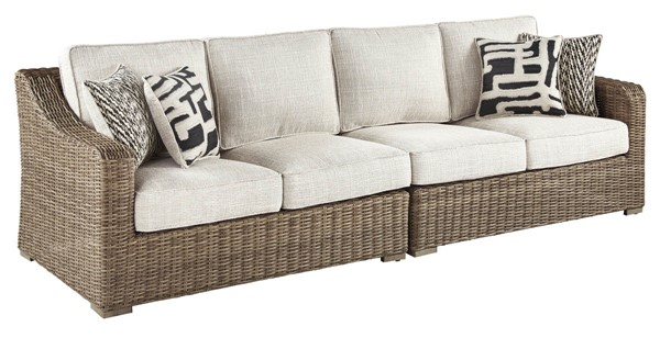 Ashley Furniture Beachcroft Beige RAF And Loveseat P791-854