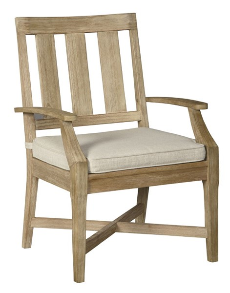 2 Ashley Furniture Clare View Beige Arm Chairs With Cushion P801-601A