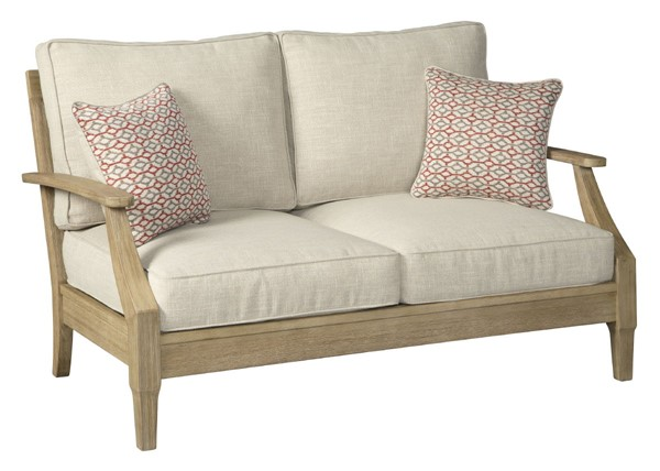 Ashley Furniture Clare View Beige Wood Loveseat P801-835