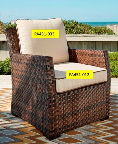 Ashley Furniture Salceda Chair Seat Cushion PA451-012