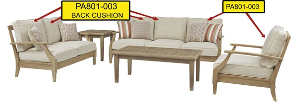 Ashley Furniture Clare View Beige Back Cushion PA801-003