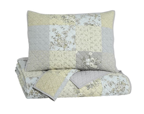 Damani Casual Fabric Floral Quilt Sets Q236003-DCS-VAR