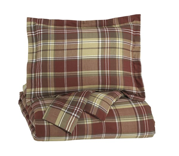Danail Traditional Red Gold Green Fabric King Duvet Cover Set Q278003K