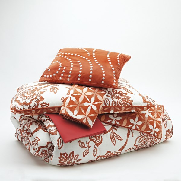 Ochreske Casual Tangerine Cotton King Comforter Set Q356005K