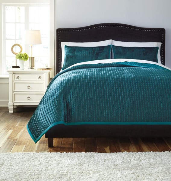 Stitched Vintage Casual Peacock Queen Comforter Set Q488003Q