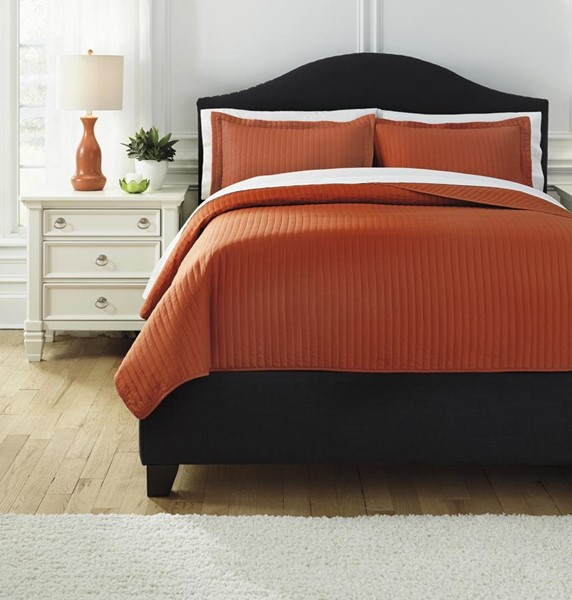 Raleda Contemporary Orange Coverlet Sets RALEDA-VAR3