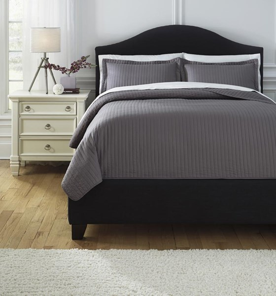 Raleda Contemporary Gray Striped Comforter Sets RALEDA-VAR5
