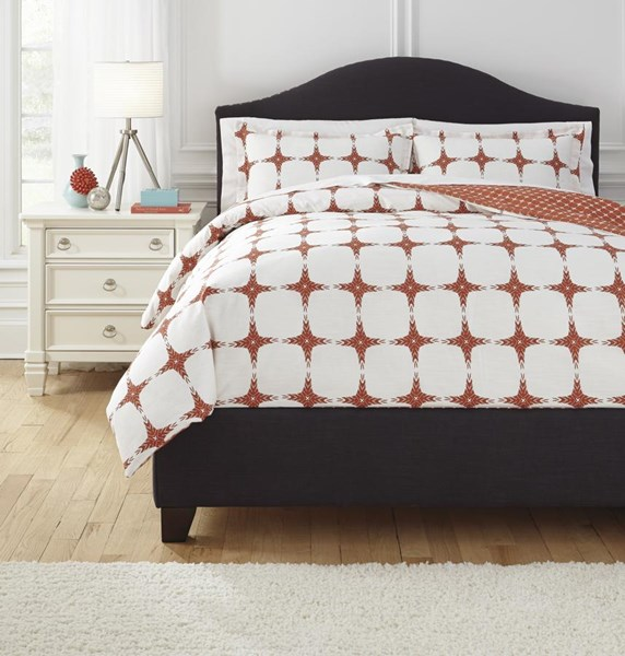 Cyrun Contemporary Orange Queen Duvet Cover Set Q706003Q