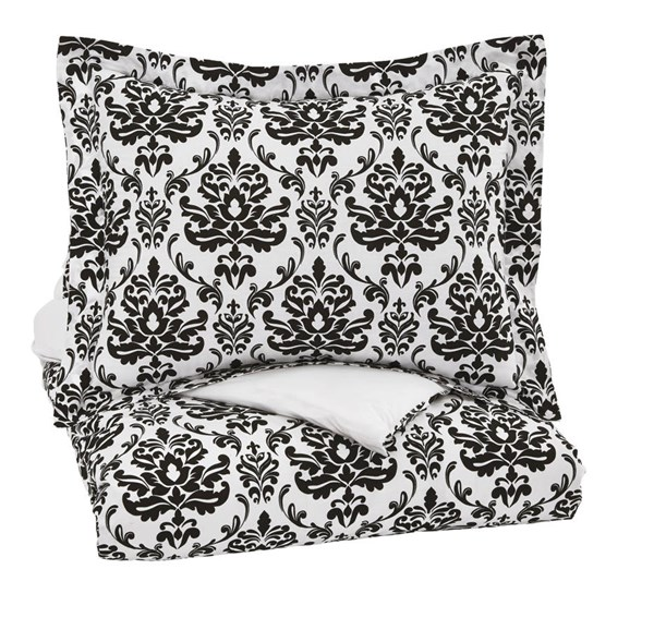Alano Youth Black Paisley Twin Duvet Cover Set Q730001T